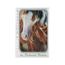 Horse Art Faces II Rectangle Magnet
