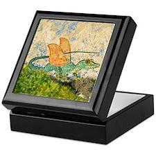 Orange Eyed Dragon Jewelry Box