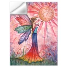 Sunshine and Rainbow Fairy Wall Art Wall Decal