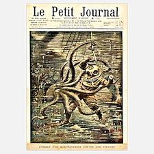 Deep Sea Diver VS. Octopus Wall Art