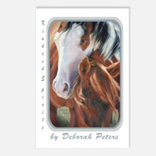 Horse Art Faces II Postcards (Package of 8)