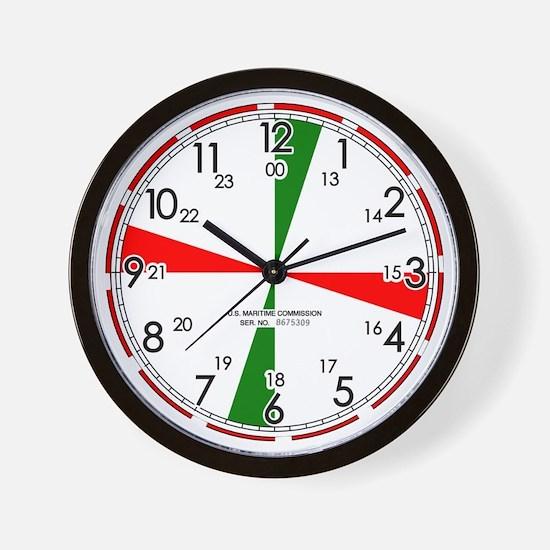Replica Ships Radio Room Wall Clock / White
