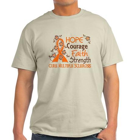 Hope Courage Faith 3 MS Light T-Shirt