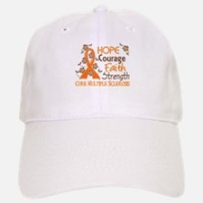 Hope Courage Faith 3 MS Baseball Baseball Cap