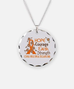 Hope Courage Faith 3 MS Necklace