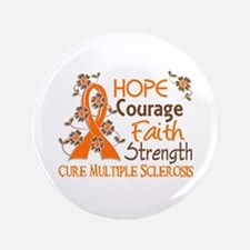 """Hope Courage Faith 3 MS 3.5"""" Button (100 pack)"""