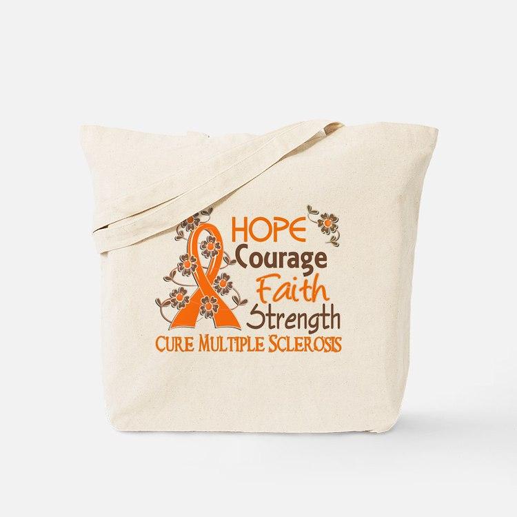 Hope Courage Faith 3 MS Tote Bag