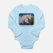 Horse Art White Long Sleeve Infant Bodysuit