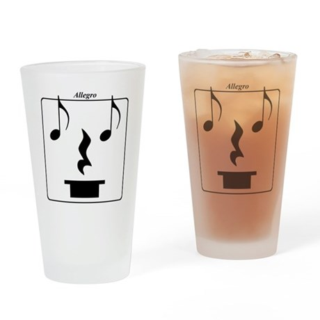 Smiley Notes Allegro Drinking Glass