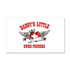 Daddy's Little Swiss Princess Car Magnet 20 x 12