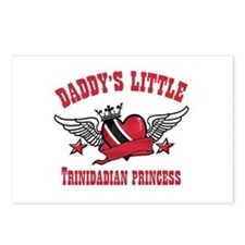 Daddy's Little Trinidadian Princess Postcards (Pac