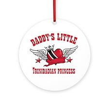 Daddy's Little Trinidadian Princess Ornament (Roun