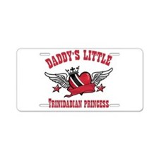 Daddy's Little Trinidadian Princess Aluminum Licen