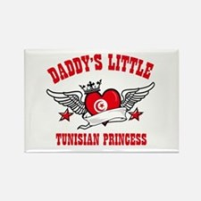 Daddy's Little Tunisian Princess Rectangle Magnet