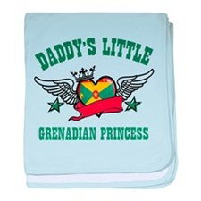 Daddy's Little Grenadian Princess baby blanket