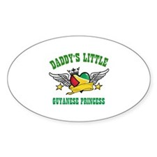 Daddy's little Guyanese Princess Decal