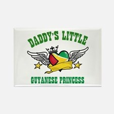 Daddy's little Guyanese Princess Rectangle Magnet