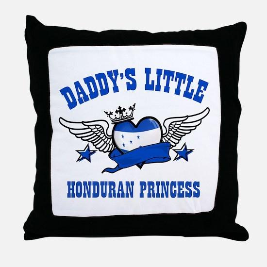 Daddy's Little Honduran Princess Throw Pillow