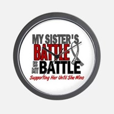 My Battle Too Brain Cancer Wall Clock