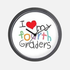 I Love My 4th Graders Wall Clock