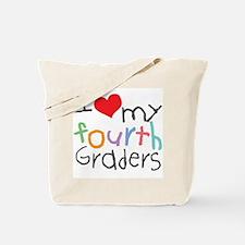 I Love My 4th Graders Tote Bag