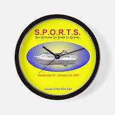 Sun SPORTS- Wall Clock