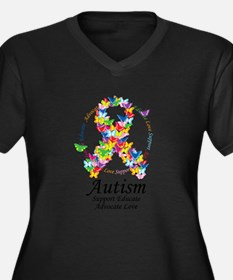 Autism-Butterfly-Ribbon Plus Size T-Shirt