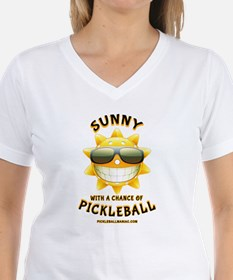 Pickleball Sun with a Chance of Pickleball T-Shirt