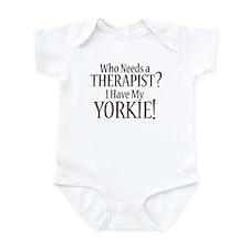 THERAPIST Yorkie Infant Bodysuit