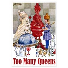 ALICE: TOO MANY QUEENS Wall Art Poster