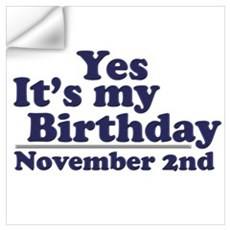 November 2nd Birthday Wall Art Wall Decal