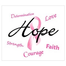 Courage Faith Love Hope 5 (Pink) Wall Art Canvas Art
