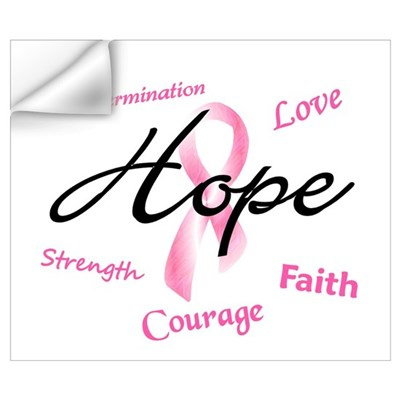 Courage Faith Love Hope 5 (Pink) Wall Art Wall Decal