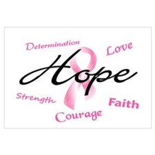 Courage Faith Love Hope 5 (Pink) Wall Art
