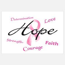 Courage Faith Love Hope 5 (Pink) Wall Art