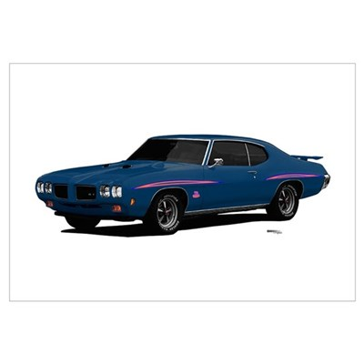 1970 GTO Judge Bermuda Blue Wall Art Poster