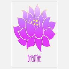 Breathe Lotus Wall Art