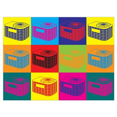 HVAC Pop Art Wall Art Canvas Art