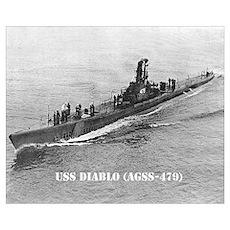 USS DIABLO Wall Art Poster
