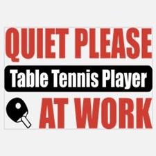 Table Tennis Player Work Wall Art