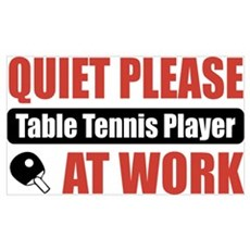 Table Tennis Player Work Wall Art Poster
