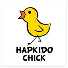 Hapkido Chick Wall Art Poster