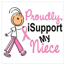 I Support My Niece 1 (SFT BC) Wall Art Framed Print