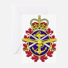 Canadian Forces Logo Greeting Cards (Pk Of 10)