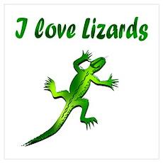 Lizard Wall Art Poster
