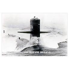 USS TREPANG Wall Art Poster