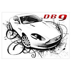 Aston Martin DB9 Wall Art Poster