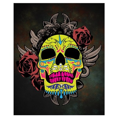 Sugar Skull Wall Art Canvas Art