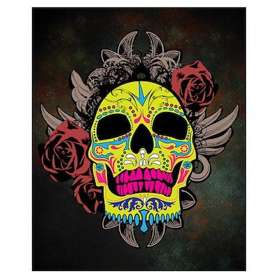 Sugar Skull Wall Art Poster