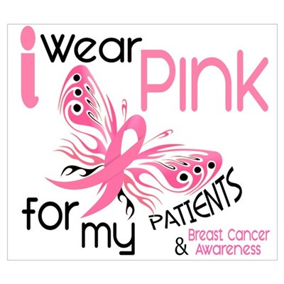 I Wear Pink 45 Breast Cancer Wall Art Poster